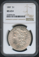 1887 $1 Morgan Silver Dollar (NGC MS 65+) at PristineAuction.com
