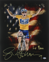 """Lance Armstrong Signed 16x20 Photo Inscribed """"Le Boss"""" (Beckett COA)"""
