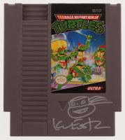 Kevin Eastman Signed 1985 Teenage Mutant Ninja Turtles Nintendo NES Video Game with Hand-Drawn Sketch of Ninja Turtle (Beckett COA)