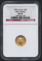 2006 $5 Five Dollars American Gold Eagle Saint-Gaudens - 1/10 Oz Gold Coin - First Strikes (NGC MS 69)