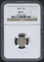 1852 3¢ Three Cent Silver (NGC MS 61) at PristineAuction.com