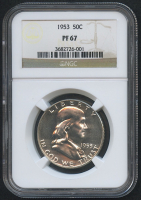 1953 50¢ Franklin Silver Half Dollar - Proof (NGC PF 67) at PristineAuction.com