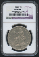 1876-S Trade Silver Dollar (NGC VF Details)