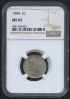 "1904 5¢ Liberty Head ""V"" Nickel (NGC MS 65) at PristineAuction.com"