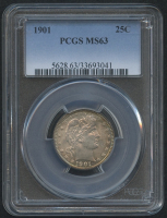 1901 25¢ Barber Quarter (PCGS MS 63) at PristineAuction.com