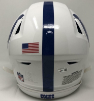"""Peyton Manning Signed Indianapolis Colts Full-Size Authentic On-Field SpeedFlex Helmet Inscribed """"SB XLI MVP"""" (Fanatics Hologram) at PristineAuction.com"""