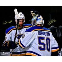 Jordan Binnington & Alex Pietrangelo Signed Blues LE 16x20 Photo (Fanatics Hologram) at PristineAuction.com