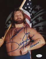 "Jim Duggan Signed WWE 8x10 Photo Inscribed ""Hacksaw"" & ""Hoooo!"" (JSA COA)"