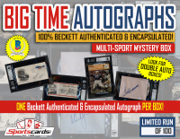 """BIG TIME AUTOGRAPHS"" Multi-Sport Beckett Authenticated Mystery Box!"