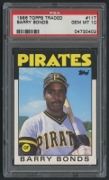 1986 Topps Traded #11T Barry Bonds XRC (PSA 10) at PristineAuction.com