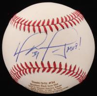 "David Ortiz Signed LE OML Custom Engraved Baseball Inscribed ""MVP!"" (JSA COA)"