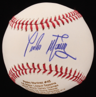 Pedro Martinez Signed LE OML Custom Engraved Baseball (JSA COA)