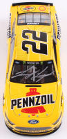 Joey Logano Signed 2019 NASCAR #22 Pennzoil - 1:24 Premium Action Diecast Car (Action COA) at PristineAuction.com