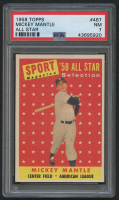 1958 Topps #487 Mickey Mantle AS TP (PSA 7) at PristineAuction.com