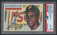1956 Topps #33 Roberto Clemente - White Back (PSA 6) at PristineAuction.com