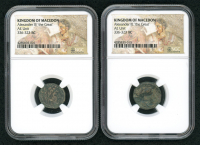 "Lot of (2) Alexander III ""The Great"" 336-323 B.C. Kingdom of Macedon Ancient Greek Coins - Mosaic Label (NGC Encapsulated) at PristineAuction.com"