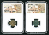 """Lot of (2) Alexander III """"The Great"""" 336-323 B.C. Kingdom of Macedon Ancient Greek Coins - Mosaic Label (NGC Encapsulated) at PristineAuction.com"""