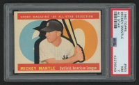 1960 Topps #563 Mickey Mantle All-Star (PSA 7)