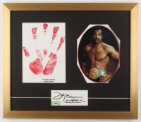 Ken Norton Signed 18x21 Custom Framed Cut Display with LE Hand Print (PSA COA)