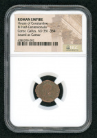 Certified Roman Coin of Emperor Const. Gallus AD 351-354 BI Half-Centenionalis Issued as Caesar - House of Constantine (NGC Encapsulated) at PristineAuction.com
