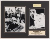 Muhammad Ali Signed 14x18 Custom Matted Cut Display (SOP LOA)