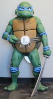"Kevin Eastman Signed Teenage Mutant Ninja Turtles Life-Size Scale ""Leonardo"" Foam Figure with Hand-Drawn Turtles Sketch (PA COA)"