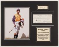 Eddie Arcaro 14x18 Custom Matted Check Display (JSA COA)