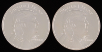 Lot of (2) Donald Trump 1oz Silver Rounds