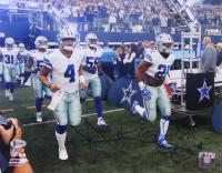 Dak Prescott & Ezekiel Elliott Signed Dallas Cowboys 11x14 Photo (Beckett COA)