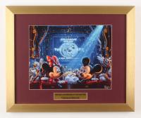 "Thomas Kinkade Walt Disney's ""Mickey & Minnie Mouse at the Movies"" 15x18 Custom Framed Print Display"