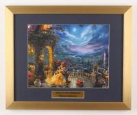 "Thomas Kinkade Walt Disney's ""Beauty & the Beast"" 15x18 Custom Framed Print Display"