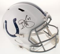 Reggie Wayne Signed Indianapolis Colts Full-Size Speed Helmet (Beckett COA)