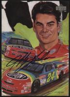 Jeff Gordon Signed LE NASCAR 5x7 Photo Card (UDA COA)