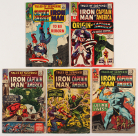 "Lot of (5) 1964-67 ""Tales of Suspence"" Marvel Comic Books Issues with #63, #69, #77, #80, & #96"