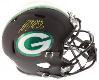 Davante Adams Signed Green Bay Packers Full-Size Matte Black Speed Helmet (JSA COA)