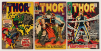 "Lot of (3) 1966-67 ""The Mighty Thor"" Marvel Comic Books with #127, #142, & #145"