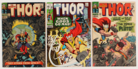 "Lot of (3) 1966-70 ""The Mighty Thor"" Marvel Comic Books with #128, #131, & #180"