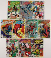 "Lot of (10) 1985-91 ""The Amazing Spider-Man"" #265-349 Marvel Comic Books"