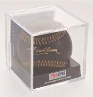 Randy Johnson Signed OML Black Leather Baseball with Display Case (PSA COA - Graded 10)