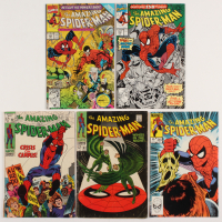 "Lot of (5) 1968-91 ""The Amazing Spider-Man"" Marvel Comic Books with #63, #68, #245, #343, & #350 at PristineAuction.com"