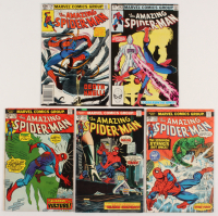 """Lot of (5) 1974-83 """"The Amazing Spider-Man"""" Marvel Comic Books with #128, #144, #145, #236, & #242"""