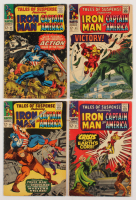 """Lot of (4) 1966-67 """"Tales of Suspence"""" Marvel Comic Books Issues with #83, #86, #87, & #88"""
