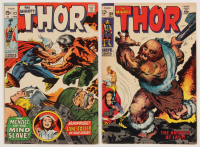 """Lot of (2) 1958-70 """"The Mighty Thor"""" Marvel Comic Books with #159 & #172"""