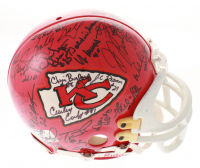 Kansas City Chiefs Legends Full-Size Authentic On-Field Throwback Helmet Team-Signed by (50) with Len Dawson, Marcus Allen, Bobby Bell, Curley Culp, Emmitt Thomas (JSA ALOA)