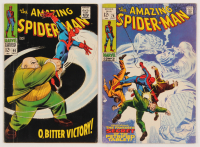 "Lot of (2) 1967-69 ""The Amazing Spider-Man"" Marvel Comic Books with #60 & #74 at PristineAuction.com"