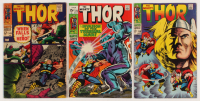 """Lot of (3) 1968-69 """"The Mighty Thor"""" Marvel Comic Books with #149, #158, & #170"""