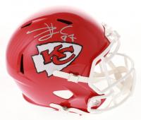 Travis Kelce Signed Kansas City Chiefs Full-Size Speed Helmet (Beckett COA)