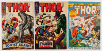 """Lot of (3) 1967-71 """"The Mighty Thor"""" Marvel Comic Books with #146, #151, & #193"""