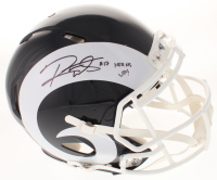 """Robert Woods Signed Los Angeles Rams Full-Size Authentic-On Field Speed Helmet Inscribed """"Horns Up!"""" (Beckett COA)"""