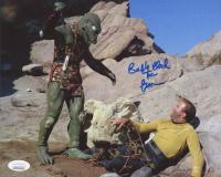"Bobby Clark Signed ""Star Trek"" 8x10 Photo Inscribed ""The Gorn"" (JSA COA)"